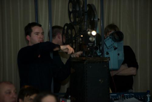 Кинопроектор ГОЗ в работе